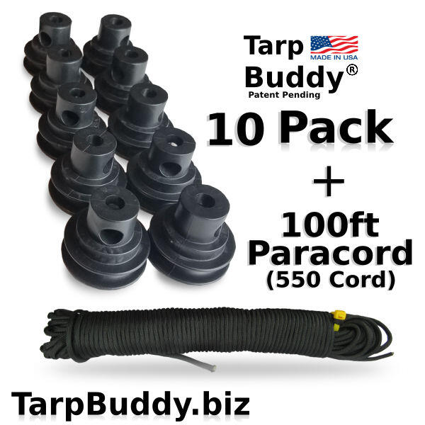 Tarp Buddy 10 pack w paracord